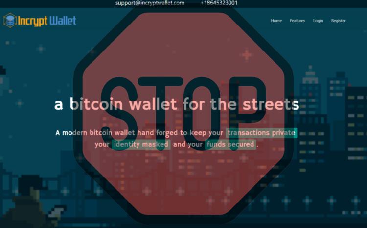 Encrypt wallet, incryptwallet.com