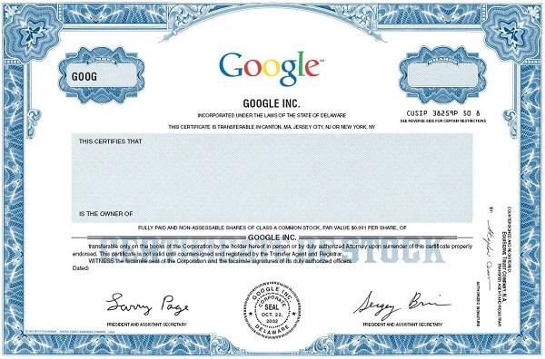 как купить акции гугл